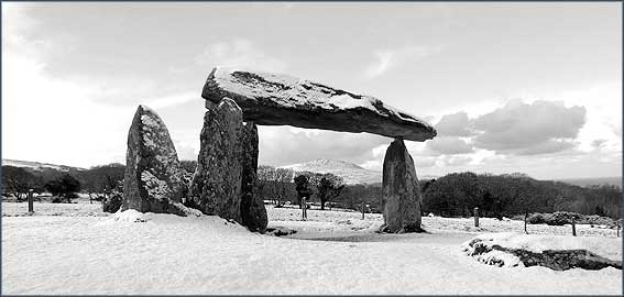 Pentre Ifan in the snow