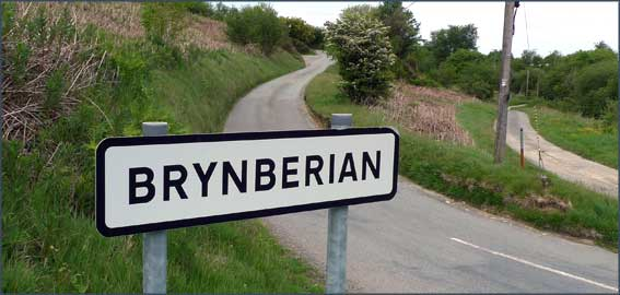 Brynberian sign in the snow